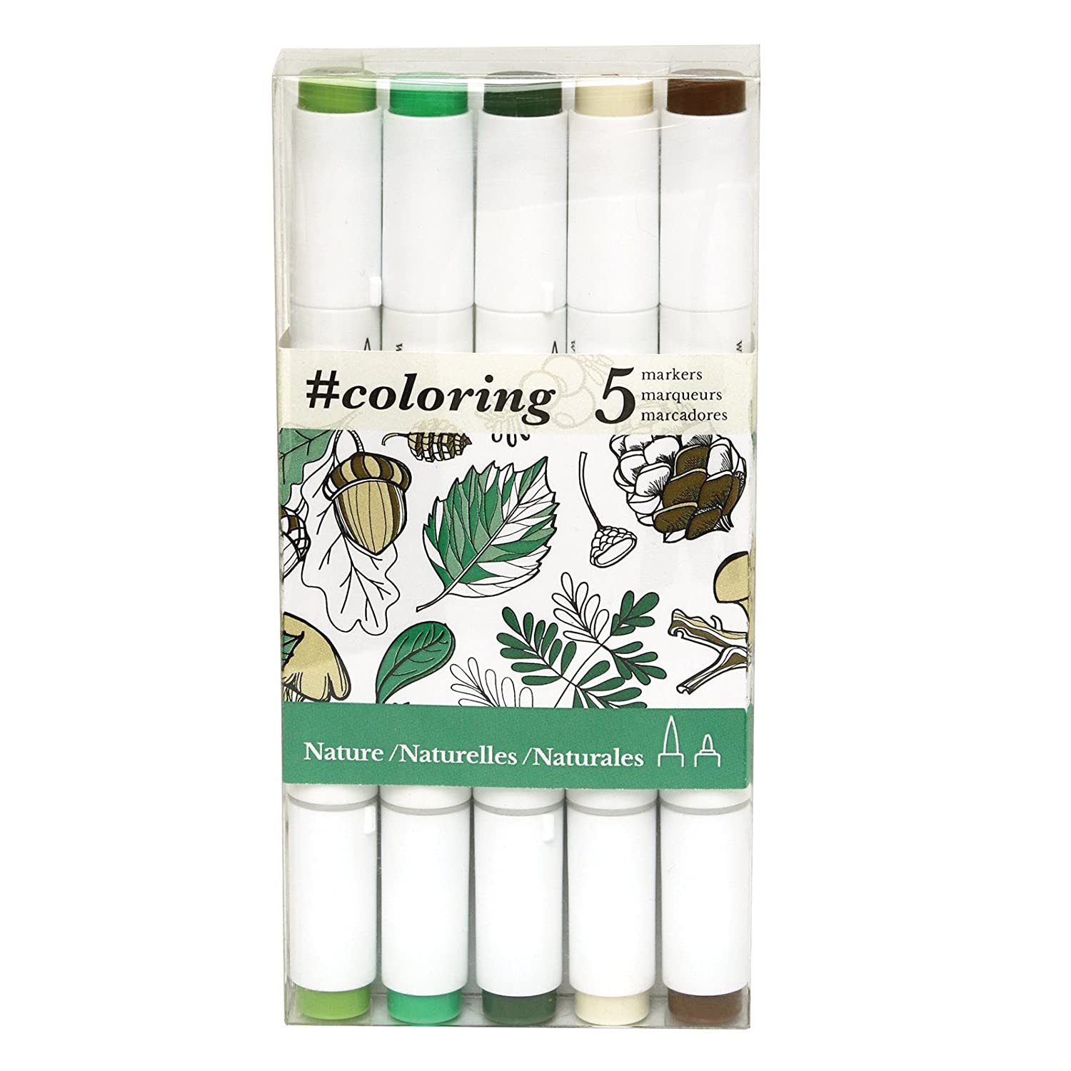 amazoncom art alternatives coloring professional alcohol based coloring markers 5 color sets ideal for the johanna basford coloring canvas range