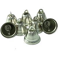Kleenes Traumhandel–50–Mini campanas decorativo 30x 20mm, color plata–campanas