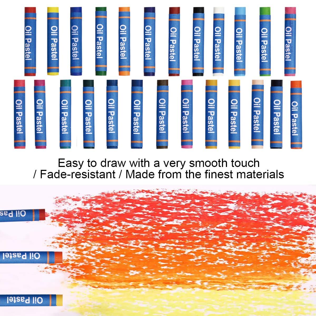 Tavolozza 126pcs Deluxe Artist Set per Pittura con cavalletto in Alluminio Strumenti di Disegno su Tela per Principianti Studenti e artisti
