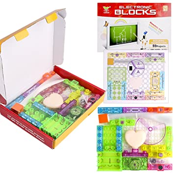 keneer snap circuits building blocks, electronics blocks kit simple