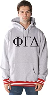 Merch Nerds Rush 101 Phi Gamma Delta College Hoodie with Oklahoma Colored Trim - Greek Letter Fraternity Hooded Sweatshirts