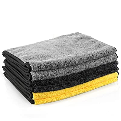 MATCC Microfiber Cleaning Cloths 6 Pack 16\'\' x 32\'\' Microfiber Towels for Cars Ultra-Thick Super Absorbent Car Microfiber Towel for Washing Polishing Waxing and Drying Detailing Towel: Automotive [5Bkhe1010798]