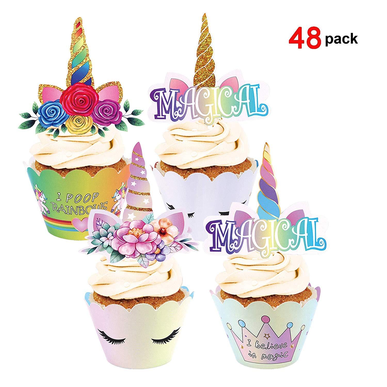 Konsait Cumpleaños Cupcakes Decoracion Unicornio Cupcake ...