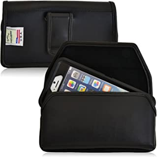 product image for Turtleback Holster Compatible with Apple iPhone 6s, iPhone 6 w/OB Defender case Black Belt Case Leather Pouch with Executive Belt Clip Horizontal Made in USA