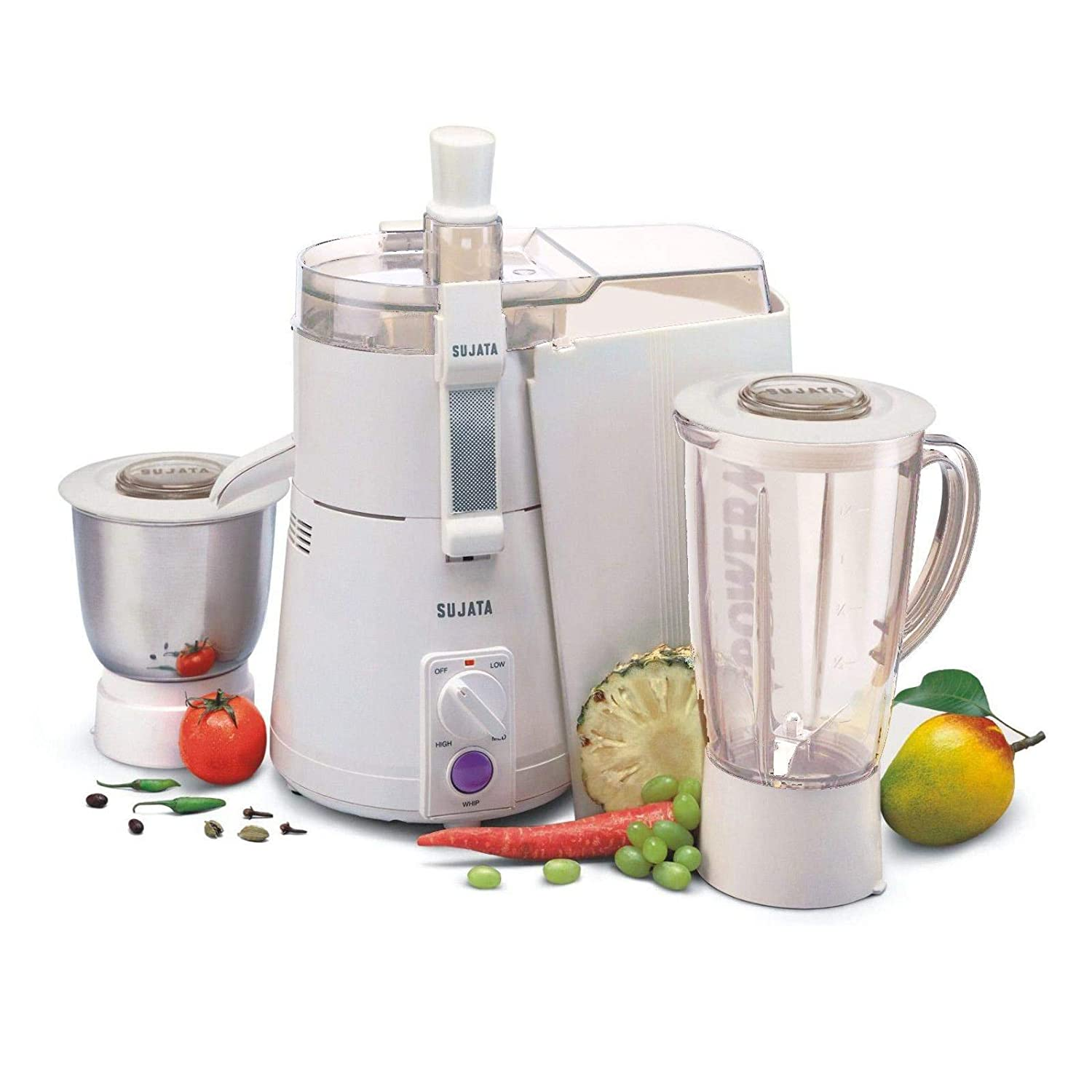 Sujata Powermatic Plus + CH 900-Watt Juicer Mixer Grinder