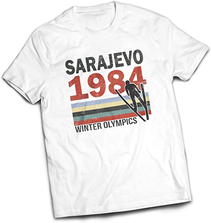 Sarajevo 84 T-Shirt Olympic games 1984 T shirt