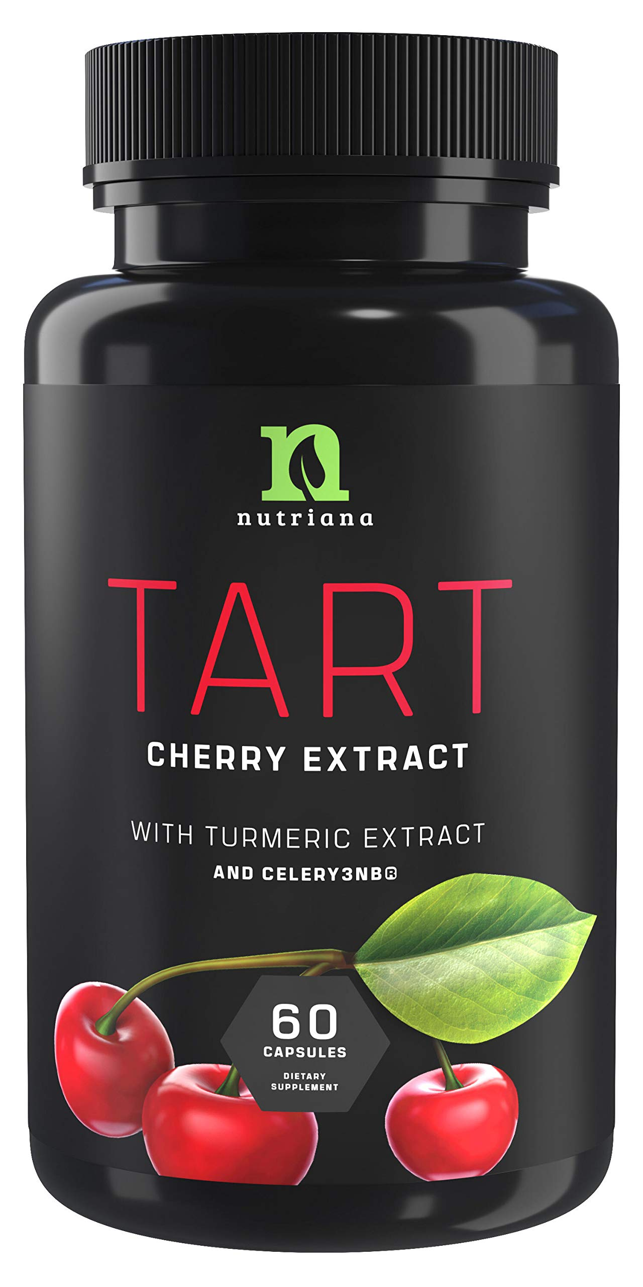 Tart Cherry Extract Capsules with Celery Seed and Turmeric 2500 mg   Uric Acid Cleanse Support, Joint Comfort and Muscle Recovery  Benefits of Tart Cherry Juice Concentrate - 60 Capsules