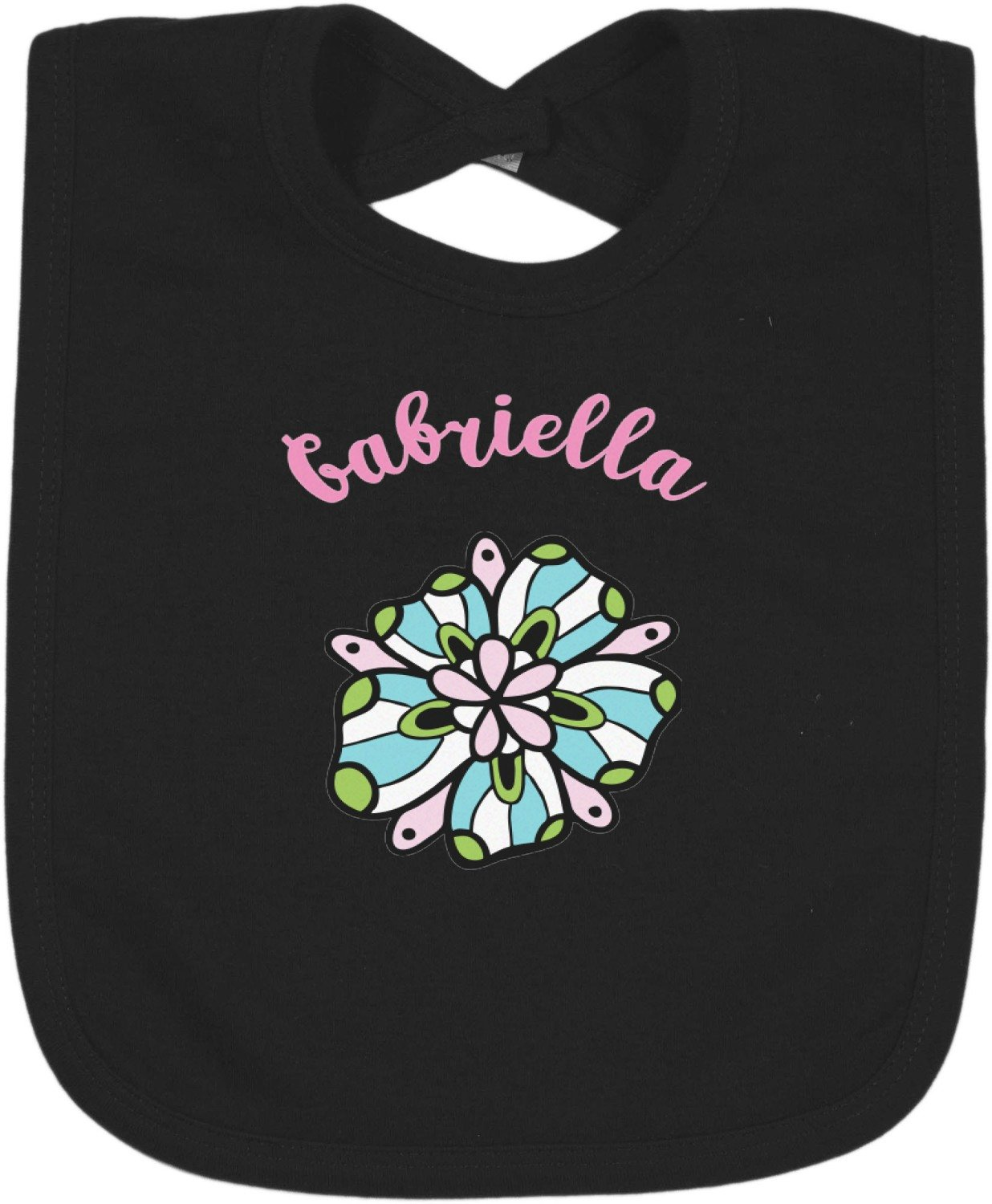 Summer Flowers Bib - Select Color (Personalized)