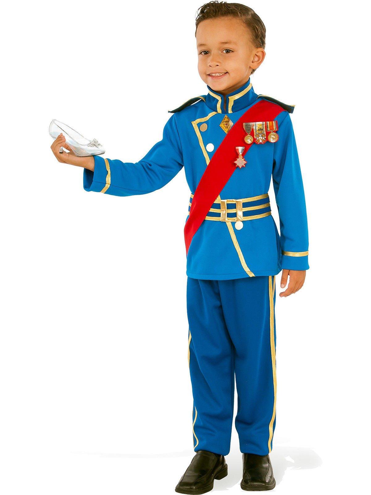 Adorable Royal Prince Boys Blue Charming Fairytale Costume Jacket Pants SM-LG