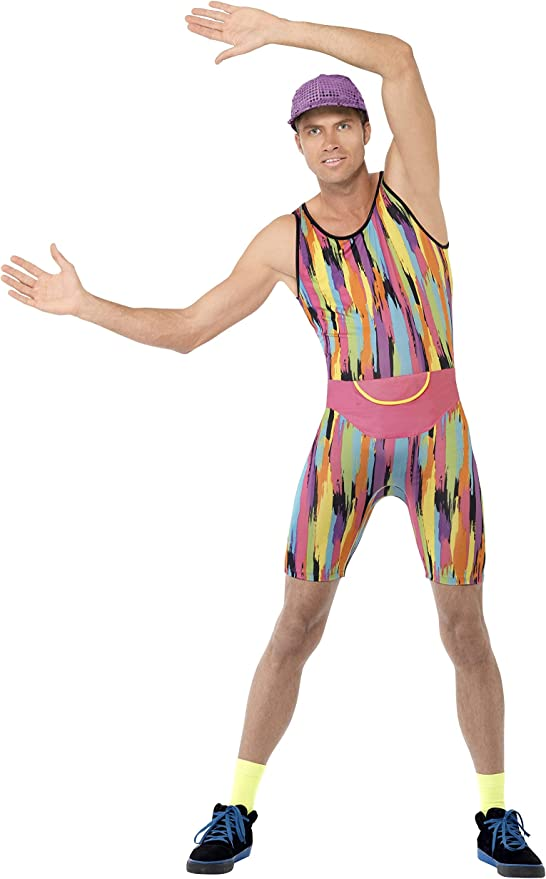 80s Costumes, Outfit Ideas- Girls and Guys Smiffys Aerobics Instructor Costume (Large) £16.48 AT vintagedancer.com