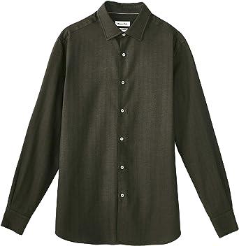 MASSIMO DUTTI 0154/116/500 - Camisa de algodón para Hombre Verde Verde M: Amazon.es: Ropa y accesorios