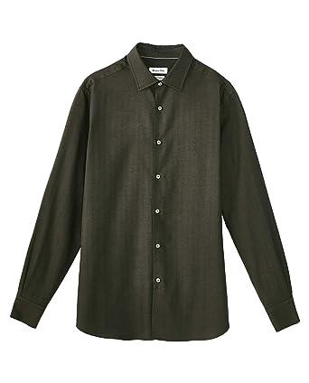 MASSIMO DUTTI 0154/116/500 - Camisa de algodón para Hombre Verde ...