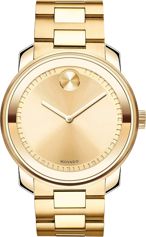 Movado Bold 3600258 - Reloj, Correa de Acero Inoxidable Color Dorado