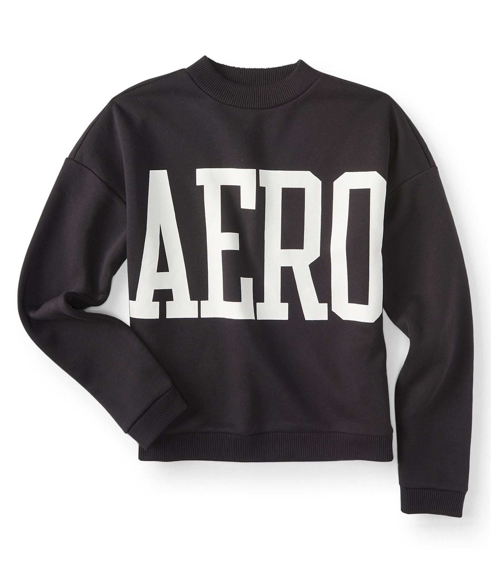 Aeropostale Womens Logo Sweatshirt Black L - Juniors by Aeropostale