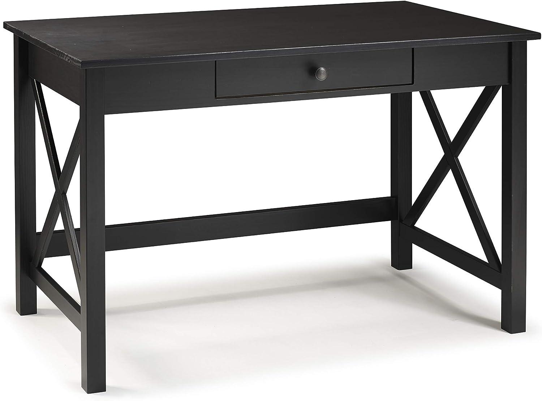 Linon Home Decor Products Nelson Laptop, Black Desk