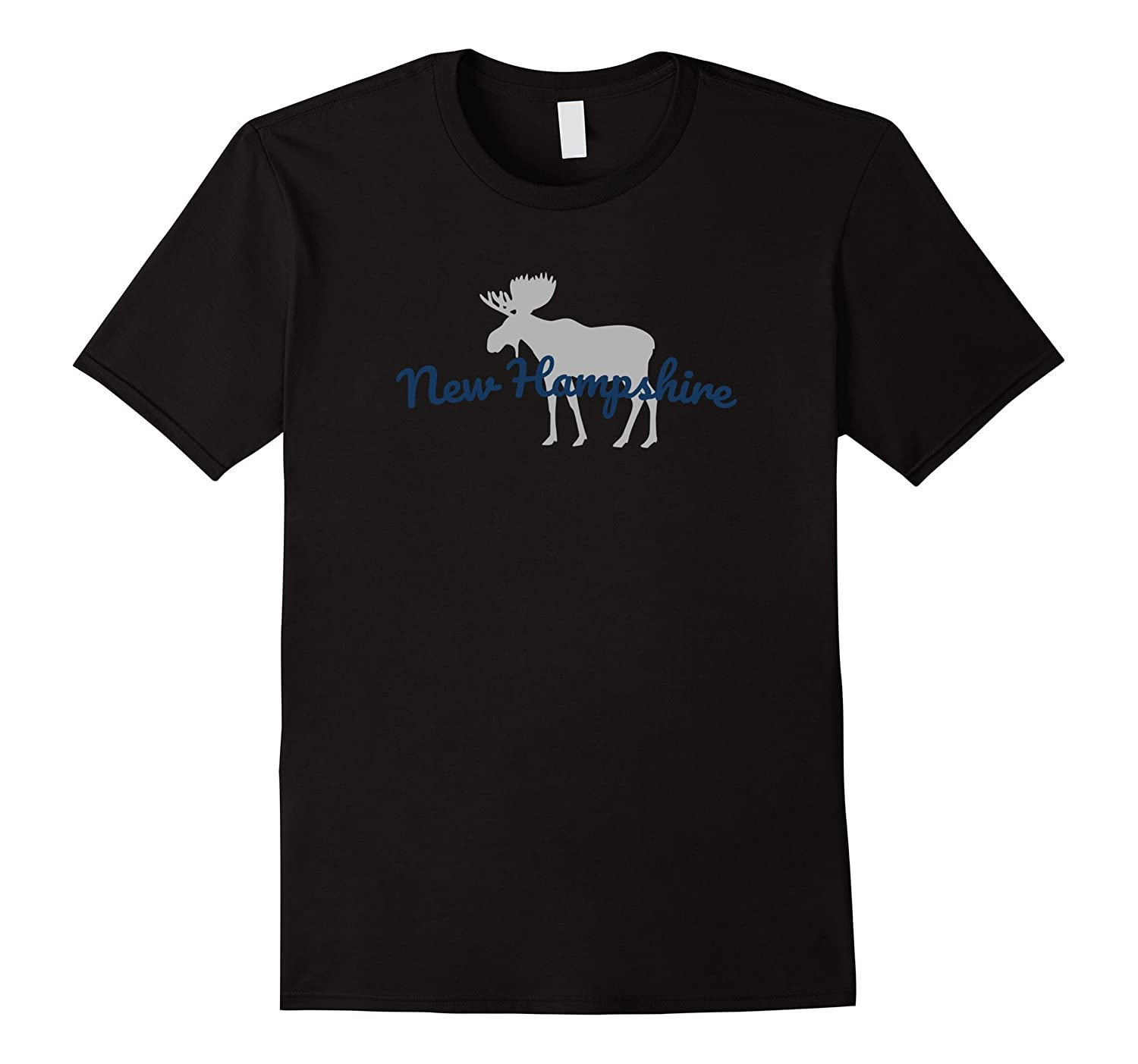 New Hampshire Moose T-Shirt - Souvenir or Vacation Gift-FL