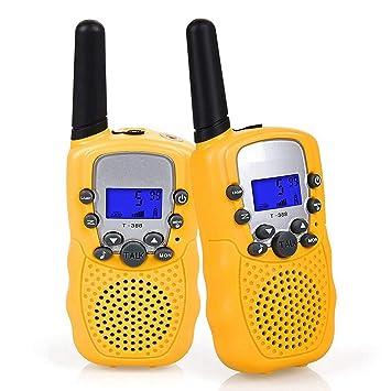 Flybiz Walkie Talkie Niños PMR446 8 Canales LCD Pantalla Función VOX 10 Tonos de Llamada Bloqueo de Canal Linterna Incorporado 8 Canales LCD Pantalla ...