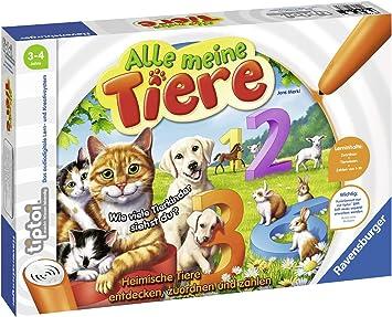 Lerne spielerisch die Zahlen von 1 bis 10 mithilfe heimischer Tiere Ravensburger tiptoi 00776 Spiel Alle Meine Tiere