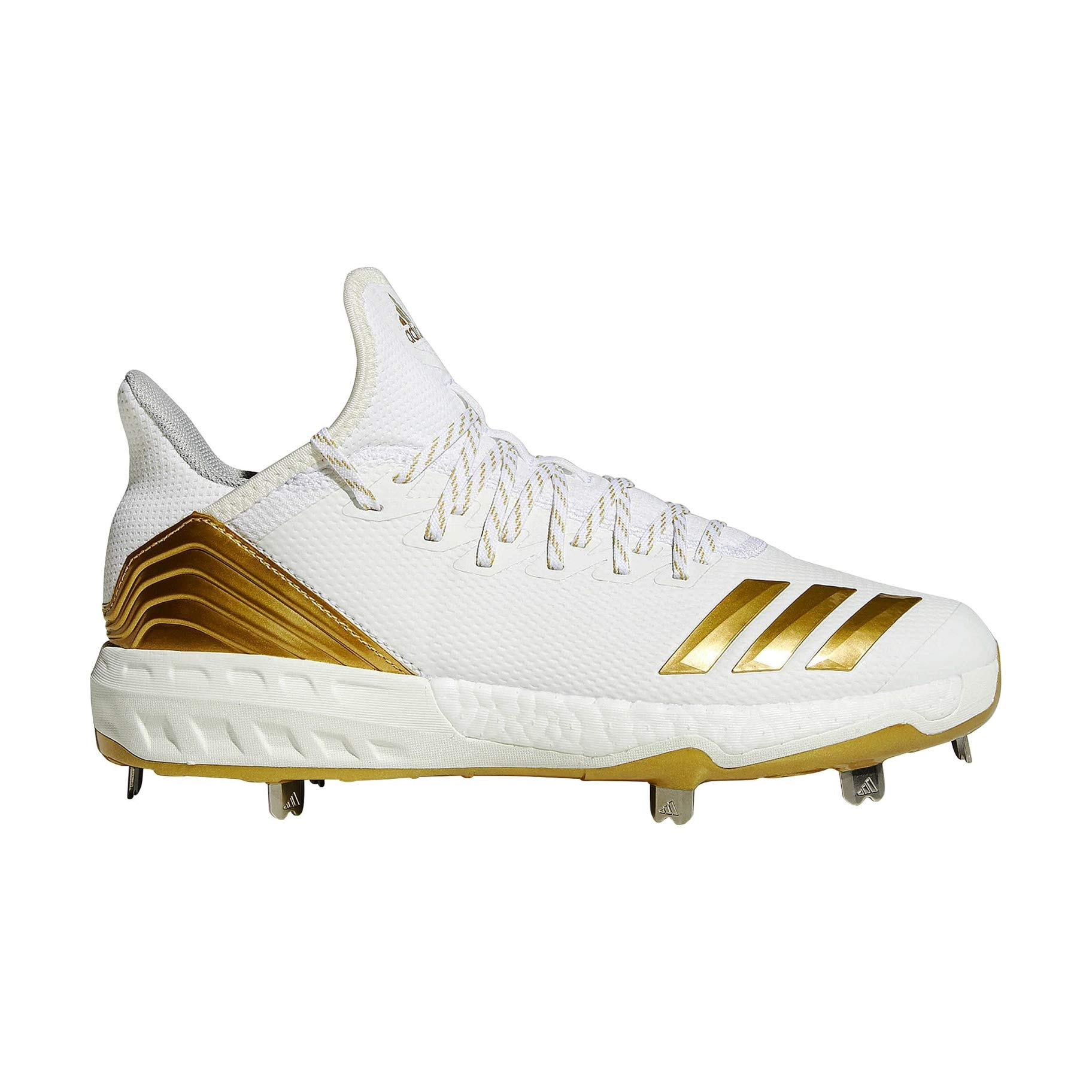 adidas Icon 4 Cleat - Men's Baseball 8 White/Gold Metallic