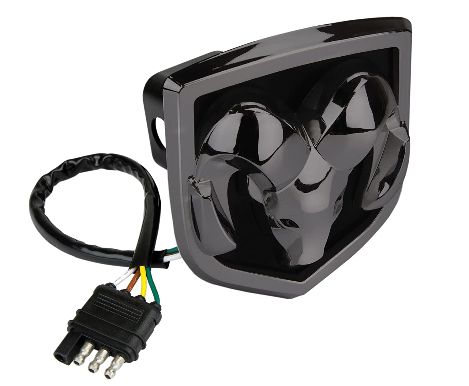 719jnu5ufvL._SL1500_ amazon com reese towpower 86531 black finish lighted hitch cover Wiring Harness Diagram at bayanpartner.co
