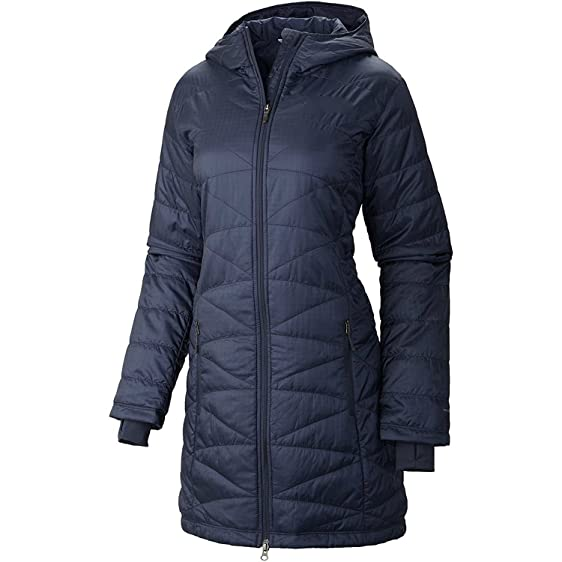 COLUMBIA WOMEN'S MORNING LIGHT OMNI HEAT LONG JACKET COAT PUFFER ...