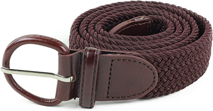 Fashion Women Canvas Braided Belts Stretch Elastic Slack Belt Strap Waist Belts