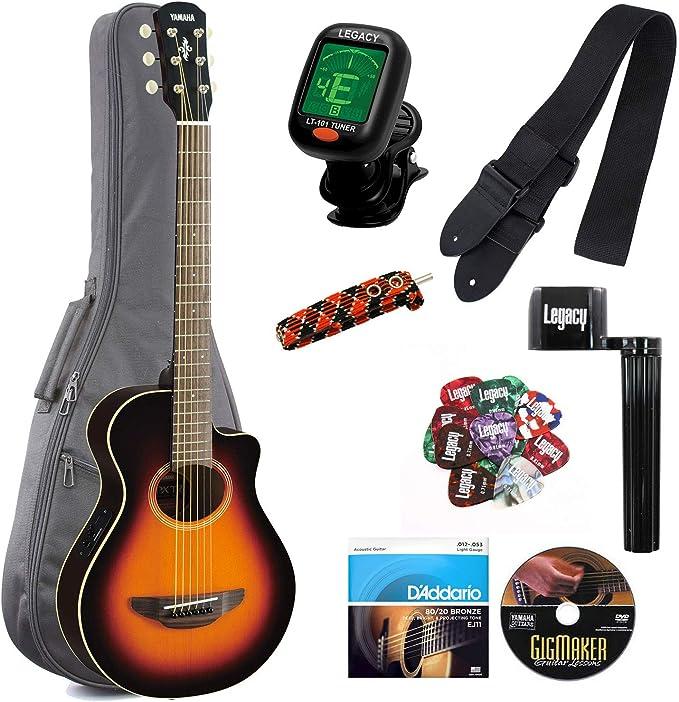 Yamaha APXT2 Guitarra eléctrica 3/4 tamaño de guitarra electroacústica Cutaway Guitarra con Legado accesorio Bundle, muchas opciones: Amazon.es: Instrumentos musicales