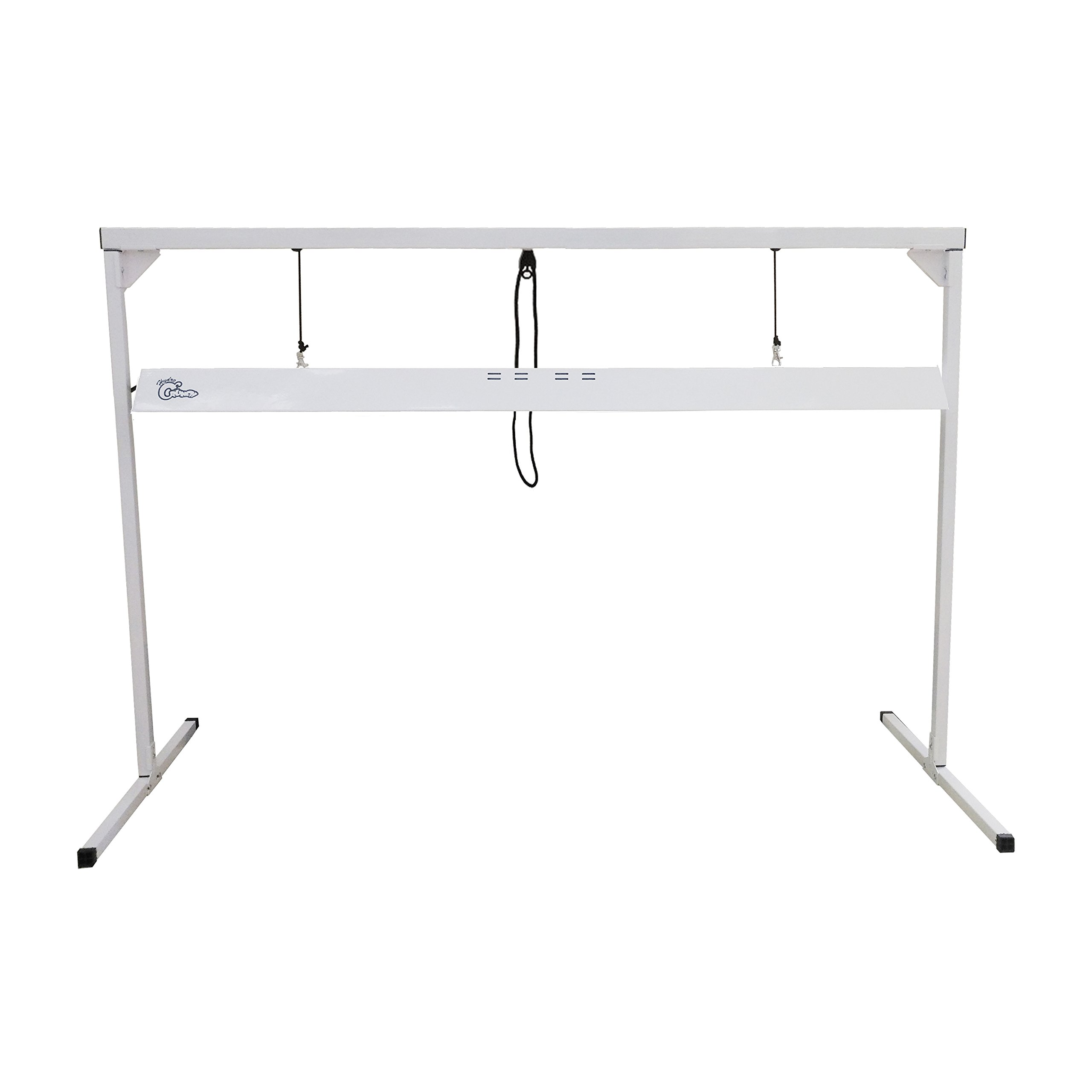 Hydro Crunch D940009300 1 54-Watt Steel White Powder Coated Light Stand 54W T5 4' Steel, T5 4ft. 1 Lamp