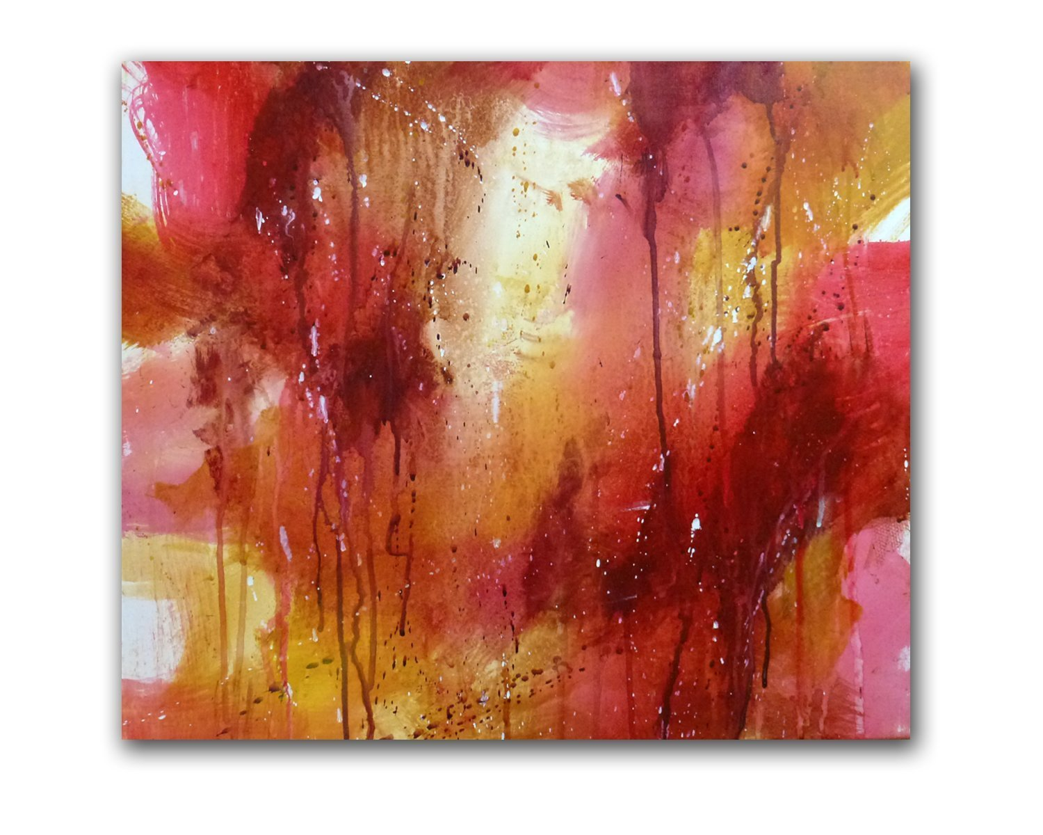 Original Fine Art Acrylic Christian Abstract Painting''Forgiven'' by Linda Miller by Linda Miller Art