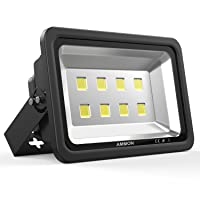 AMMON 400W LED Outdoor Flood Lights - 40000lm Super Bright Outside Floodlights,...