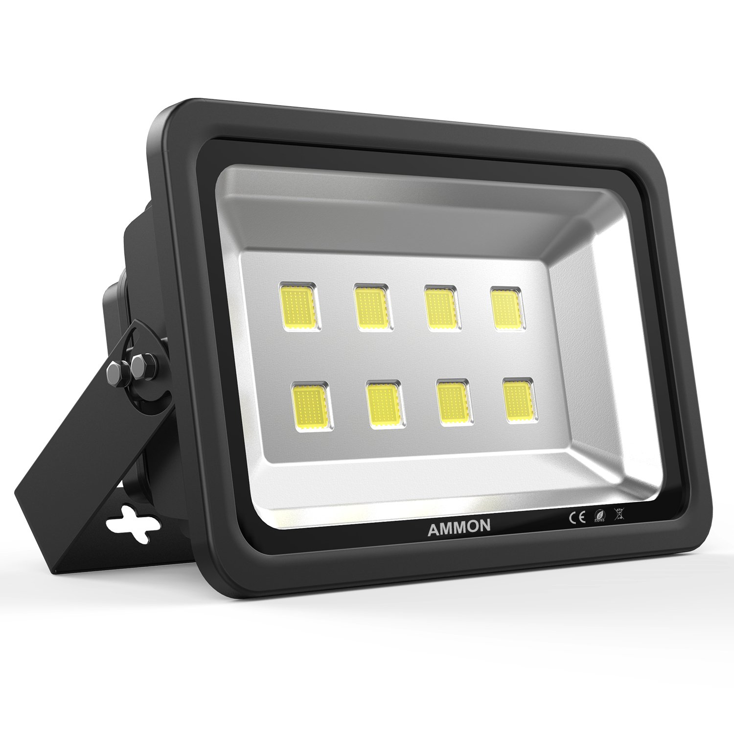 AMMON LED Flood Light, Outdoor Landscape Flood Light Fixture Waterproof Super Bright Security Flood Lamp LED Spotlight for Garden Yard, Party, Playground 400W Black
