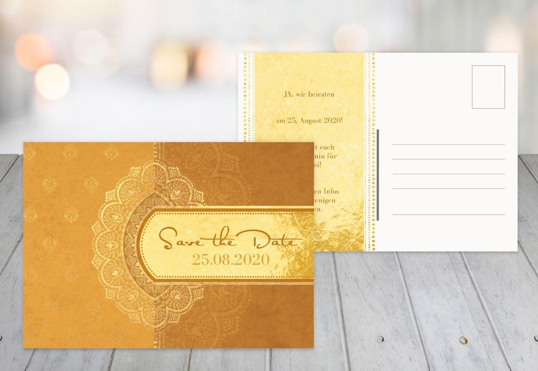 Save-the-Date Mumbai, 30 Karten, DunkelMattRot B07B6M75NN | Angenehmes Aussehen  | Günstig  | Niedriger Preis