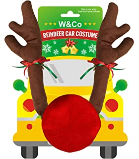 wco car reindeer with jingle bells costume reindeer christmas car character kit party accessory
