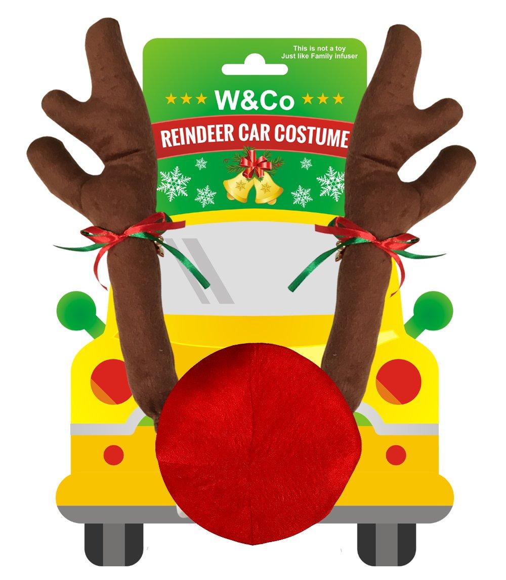 Amazon.com: W&Co Car Reindeer with Jingle Bells Costume Reindeer ...