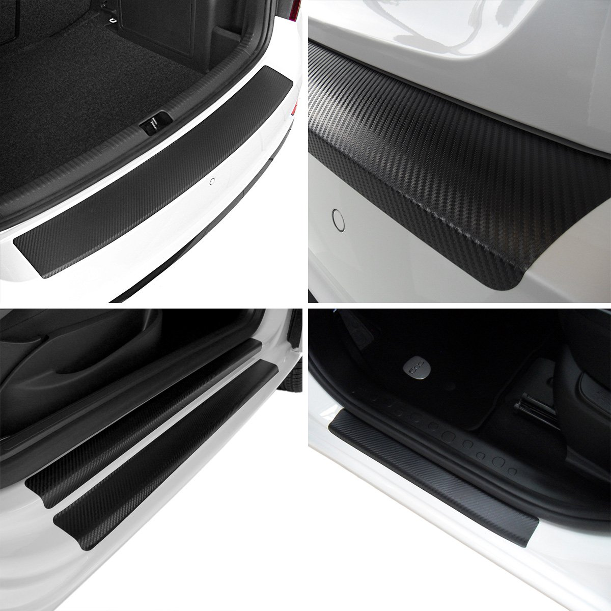 Tuneon Carbon Film Set for Boot Sills & Door Sill Trims Seat Ateca
