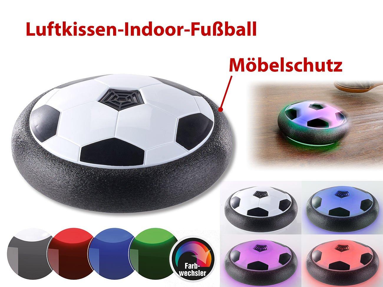 Playtastic Luftkissenfussball: Schwebender Luftkissen-Indoor-Fußball ...