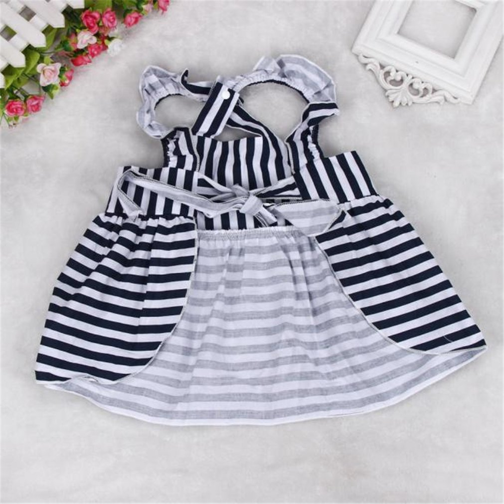 7438887f1805e Amazon.com: Goodtrade8 GOTD Baby Girls Sunsuit Outfit Stripe Backless Dress  + Brief Infant Clothes Hot Pink: Clothing