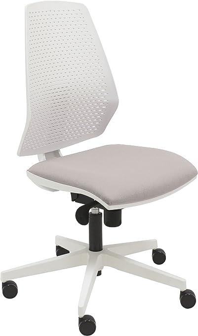 Silla giratoria oficina Hexa color 100% blanco, diseño elegante y ...
