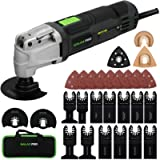 GALAX PRO 2.4Amp 6 Variable Speed Oscillating Multi-Tool Kit with Quick-Lock accessory change, Oscillating Angle:3…