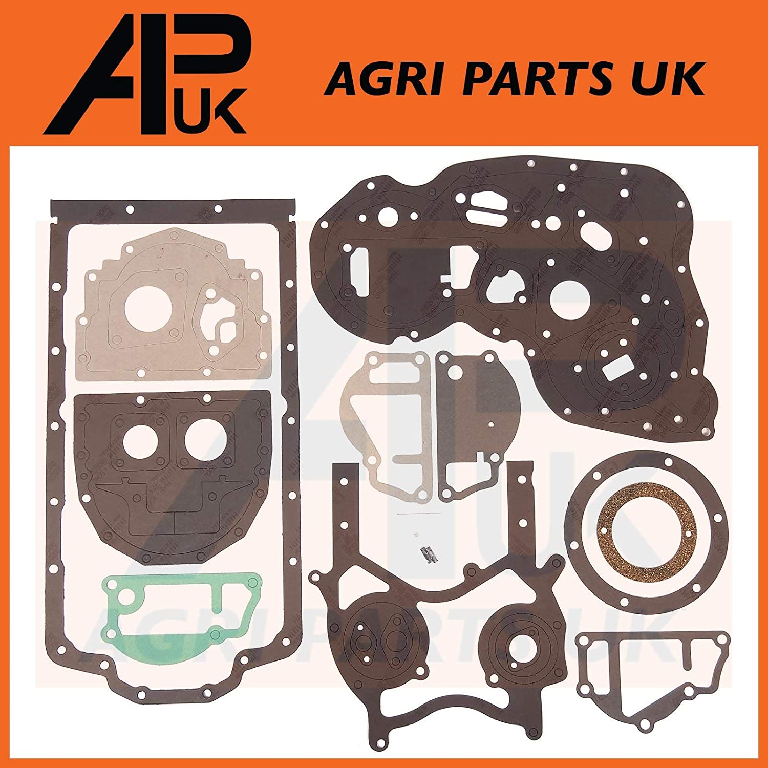 Lower Bottom Gasket set Compatible with Perkins Engine 4.236 4.248 A4.212 A4.236 AT4.236 A4.248