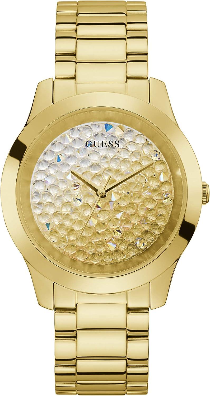 GUESS Reloj para Mujer Analógico Cuarzo japonés con Correa de Acero Inoxidable GW0020L2