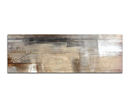 Panorama 40 cm abstract painting art picture on canvas and stretcher