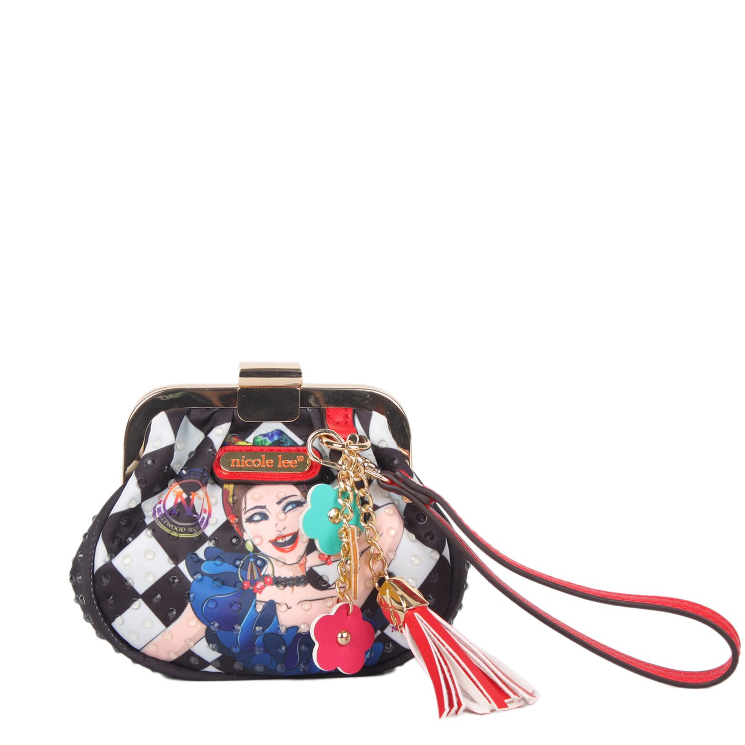 Kiss-lock Wristlet Coin Purse With Removable Wrislet Strap (Lily Loves To Shake)