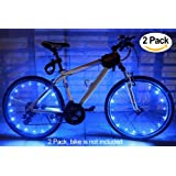 2 Pack Led Bike Wheel Light | Waterproof Bicycle Tire Light | Safety Battery Spoke Lights for Kids and Adult | Cool Bike Accessories and Decoration for bicyclers to ride at night