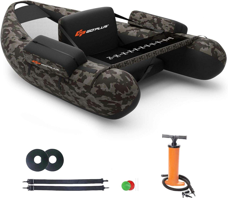 Goplus Inflatable Fishing Float Tube