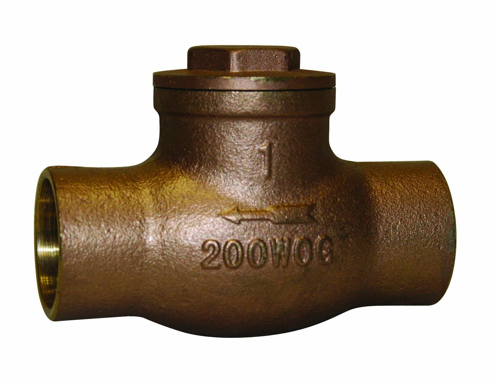 Everflow Supplies 210C002-NL Sweat Brass Swing Check Valve 2 Inch - Lead Free