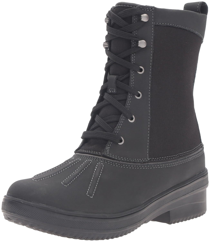 CLARKS Women's Carima Luna Snow Boot B0198WJF2Y 8.5 B(M) US|Black Leather