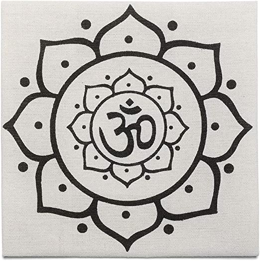Top Plaza Printed Cotton Cloth Flower of Life Sacred Geometry Crystal Grids Altar Cloth for Meditation Energy Balance