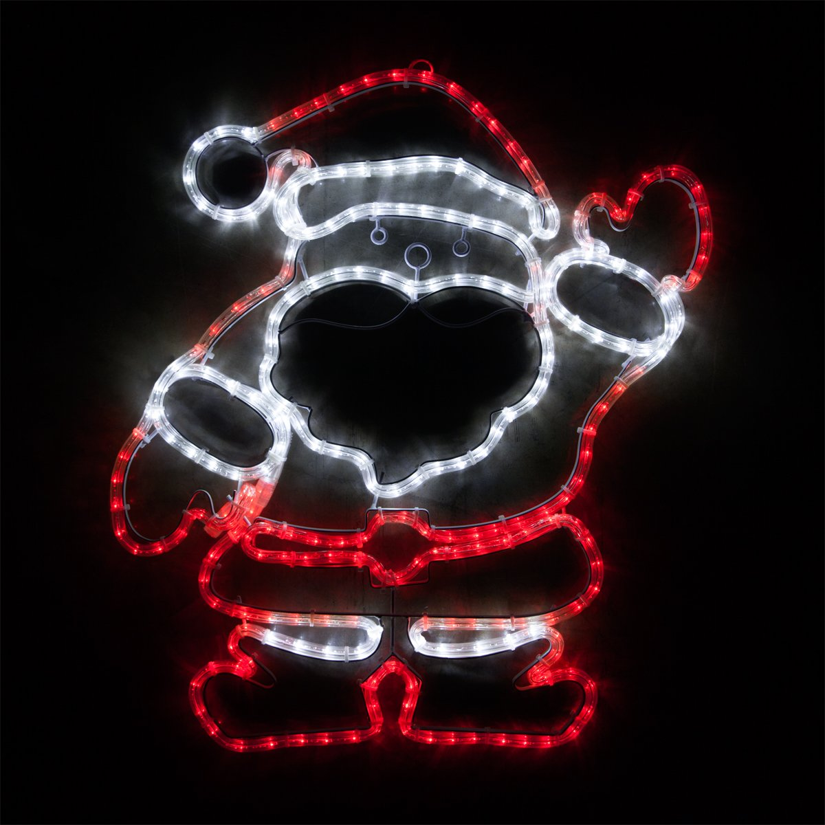 Wintergreen Lighting Outdoor Santa Decorations – Santa Christmas Outdoor Lights – Santa Claus Yard Decorations, Outdoor Christmas Decorations (28-Inch LED Yard Santa)
