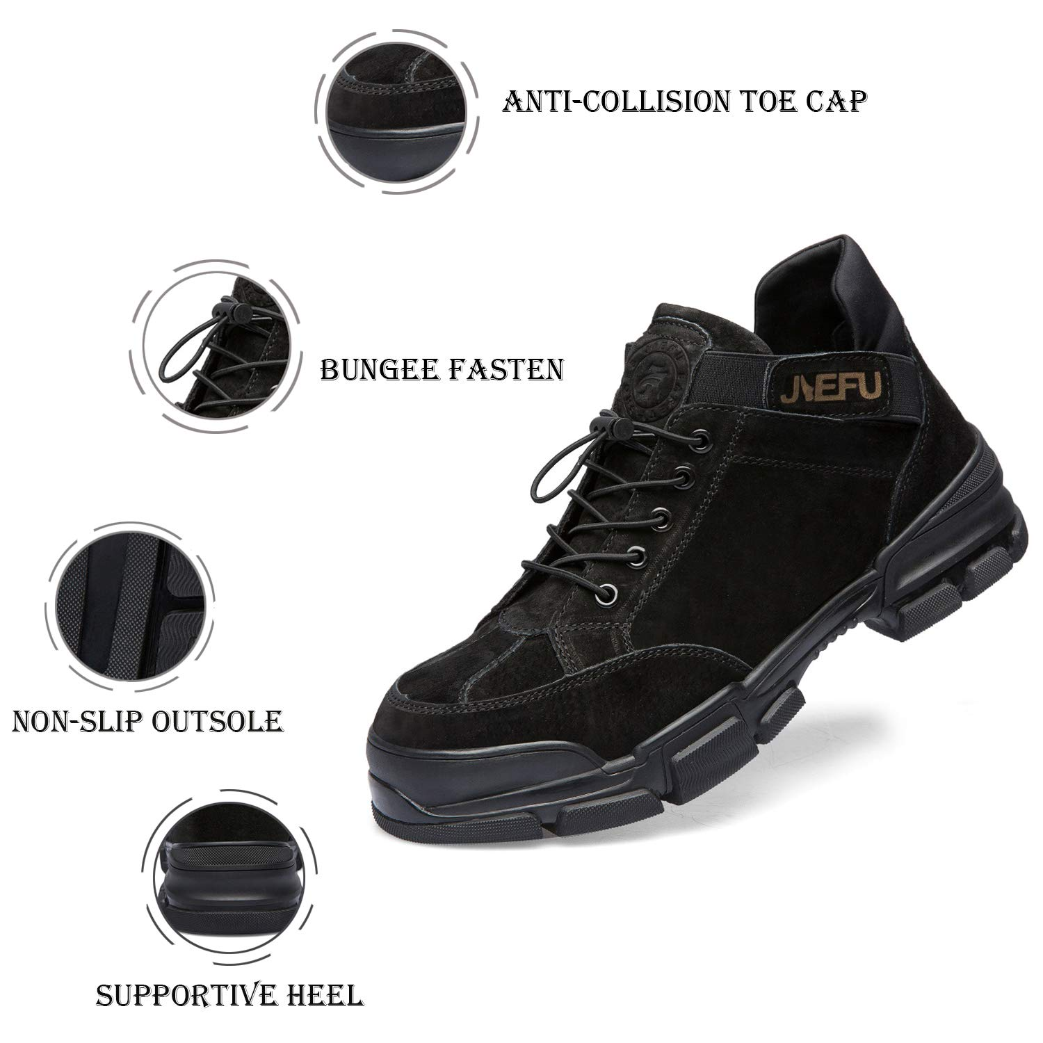 UPSTONE Safety Steel Toe Boots Mens